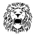 Rasta lion head stencil - photo#6