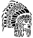 "Native American ""Chief"" Stencil #29"