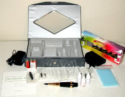 #1b Permanent Makeup Kit with 6 Inks This Pen Style Cosmetic Kit comes
