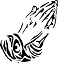 Praying Hands Stencil