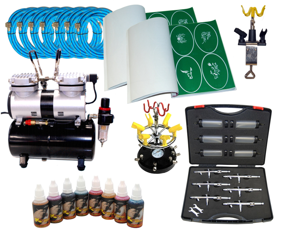 Tattoo air brush air brush compressors air brush for Professional painting supplies