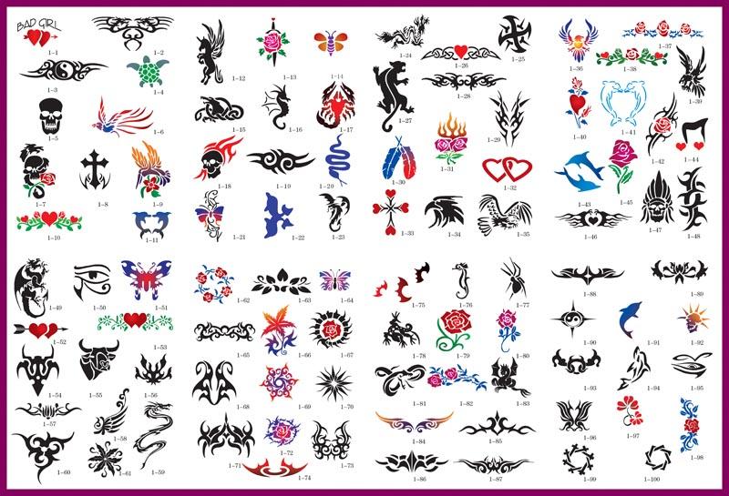 Professional Airbrush Tattoo Kit, Professional Airbrush Body Art Kit