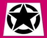 Army Star Symbol Army Wwii Army Star Stencil