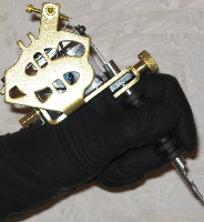 Black jack tattoo gloves