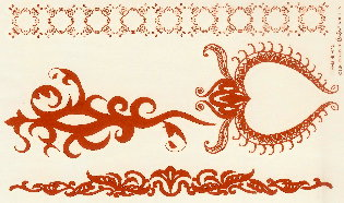 Henna Design Adhesive Tattoos